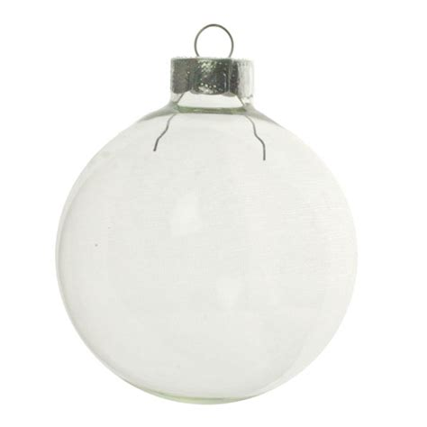 clear glass baubles 8 x 70mm christmas time uk