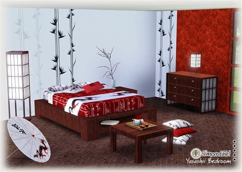 asian style bedroom sets my sims 3 blog yasashii bedroom set by simcredible designs