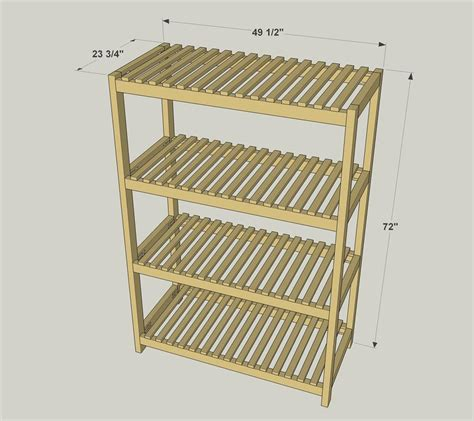 with shelves slatted storage shelves buildsomething