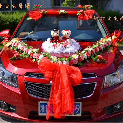 Wedding Car Decoration Kit by Beautiful Car Decoration For Wedding With Numerous