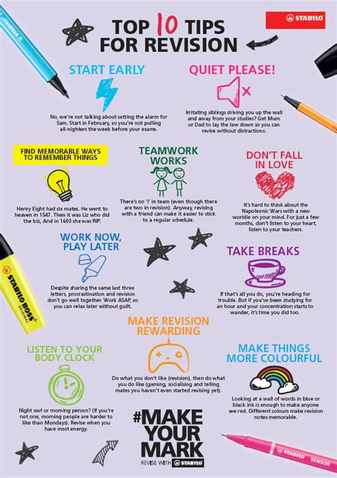 10 Ways To Keep Up With Revision 10 tips for revision stabilo uk