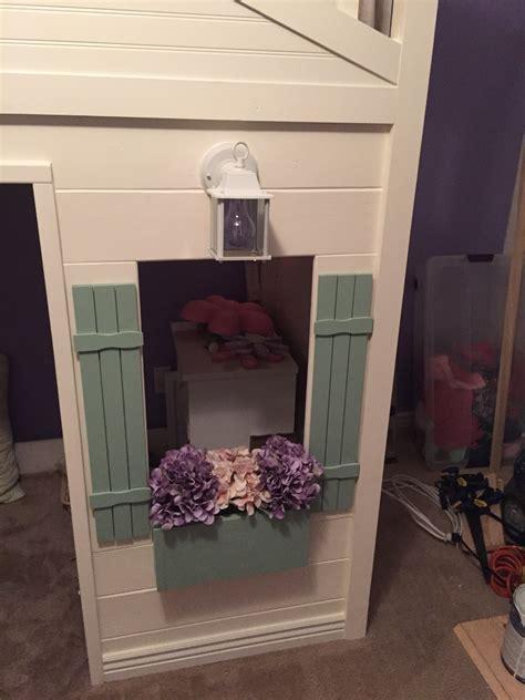 ana white candyland cottage loft bed diy projects ana white cottage loft bed playhouse with stairs lights