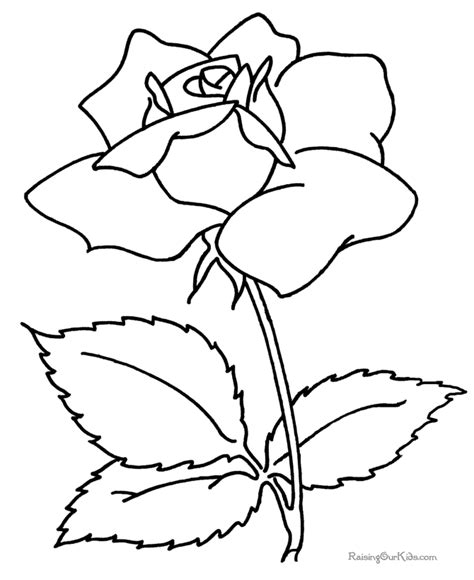 coloring pages flower rose kids coloring pages flowers coloring pages
