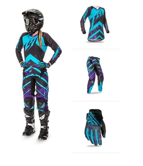 womens motocross gear packages details about 2016 fly racing purple kinetic mx 2 3