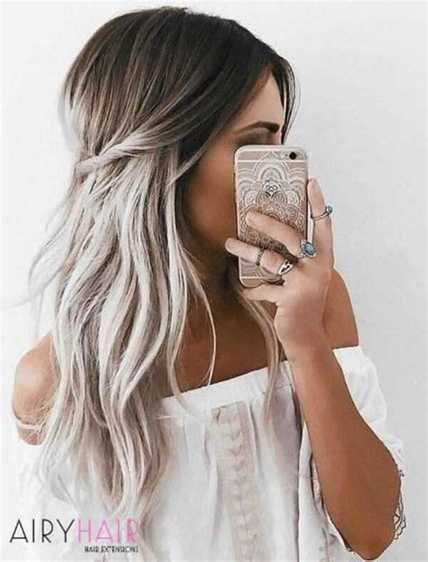 black and white hair color 10 best white ombr 233 hair color ideas