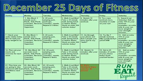 the 25 day challenge books 25 days of fitness december 2014 starts now run eat repeat