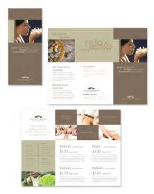 spa brochure templates wellness spa resort tri fold brochure template salon