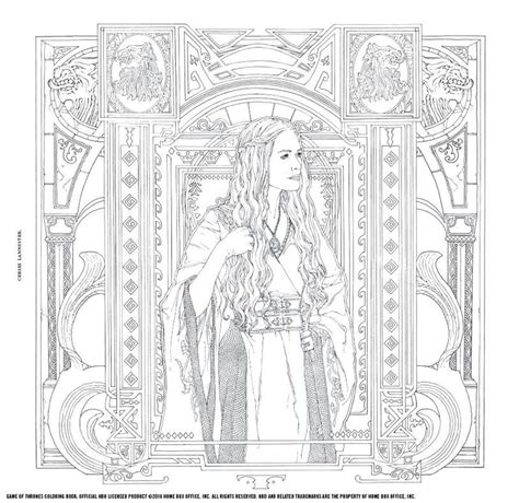 thrones colouring book coloured in of thrones a new coloring book let s you color in