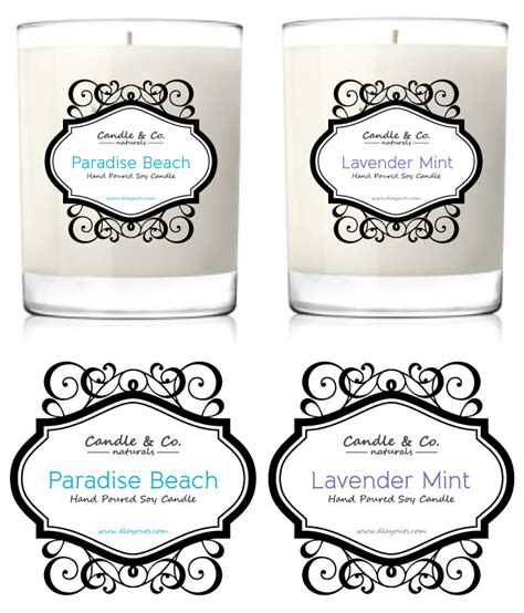 Handmade Soy Candles Label Template Candle Label Templates
