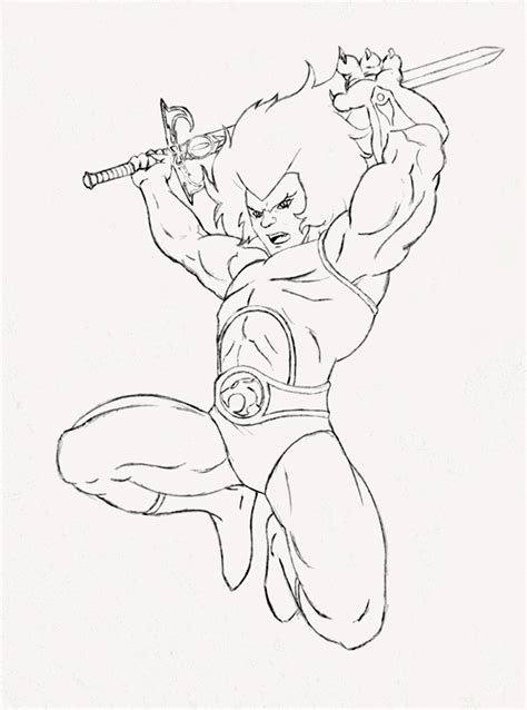 Coloring With Thunder Cats Coloring Pages Thundercats Coloring Pages