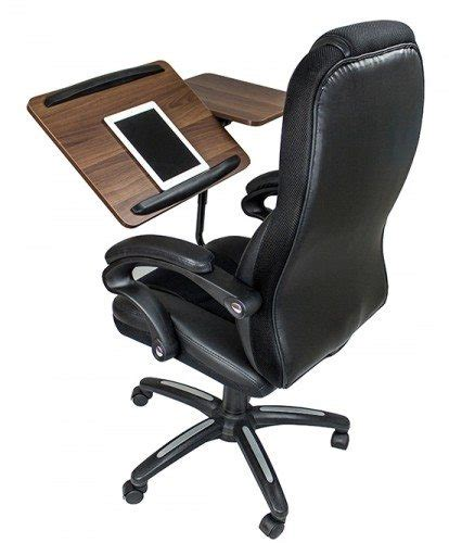 here s an office chair that serves as a desk the