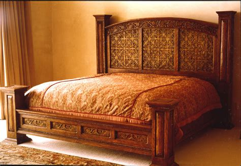 wood carving bed custom wood carving mediterranean beds albuquerque