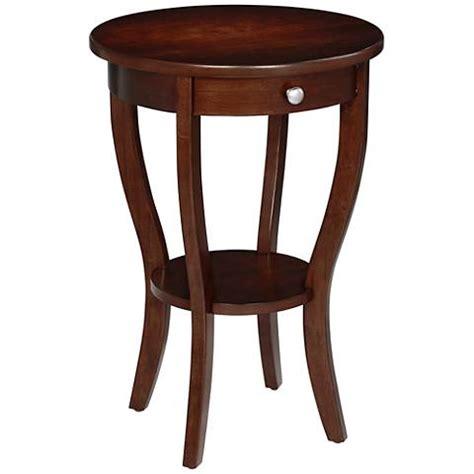 walnut accent table lindsey round dark walnut accent table 11w43 ls plus