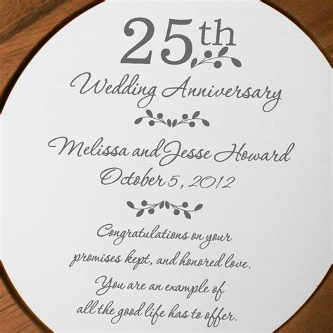 25th anniversary plates personalized 25th anniversary personalized wooden plate