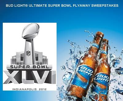 Super Bowl Sweepstakes - flyaway to watch super bowl with bud light sweepstakesbible