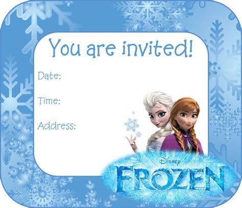 printable free frozen invitations pin by kayla phillips on birthday party ideas pinterest