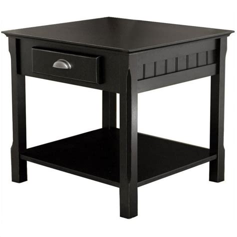what to put on end tables in living room solid wood end table nightstand in black 20124