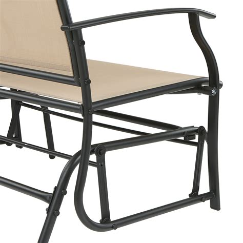 rocking swing chair ikayaa 2 seater outdoor glider bench swing bench rocking
