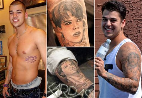 rob kardashian arm tattoos rob s many tattoos yes that is really inked