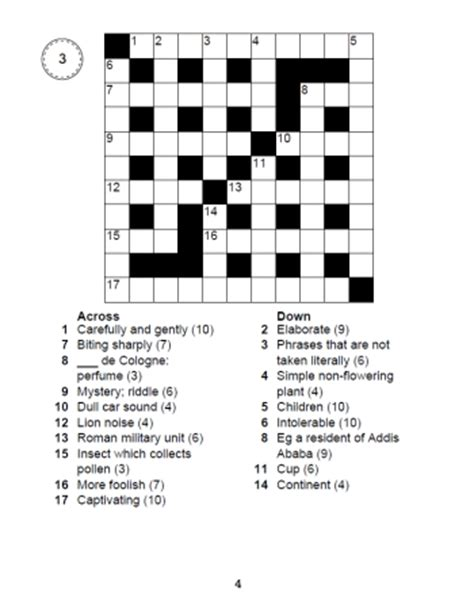 large print crosswords book