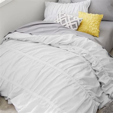 comforter sham painterly stripe pucker up comforter sham pbteen