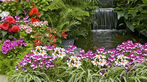Pic Flower Garden Flower Garden Hd Desktop Background Wallpaper Wallpaperlepi