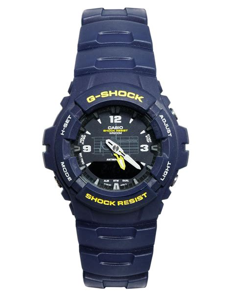 G Shock Blue g shock gshock analogue g1002bvmur in blue for