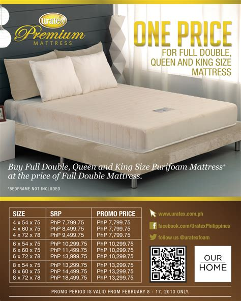 Full Bed Mattress Size Valentine Specials One Price For Full Double King
