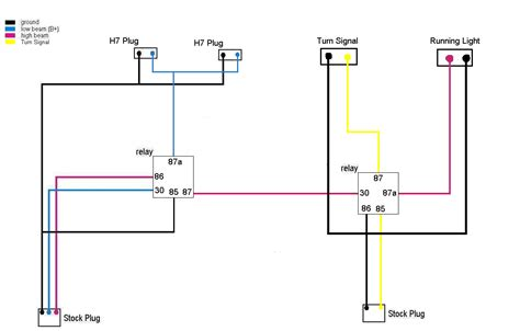 help looking wiring diagram dualheadlight