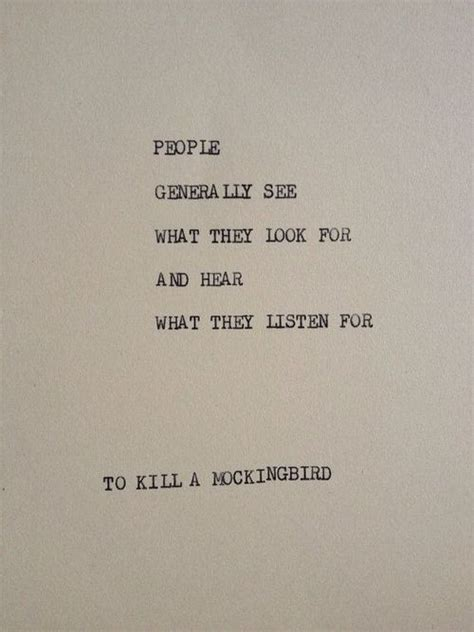 to kill a mockingbird key themes and quotes to kill a mockingbird typewriter quote on 5x7 cardstock