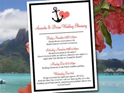 destination wedding itinerary template wedding itinerary template wedding planner quot anchor