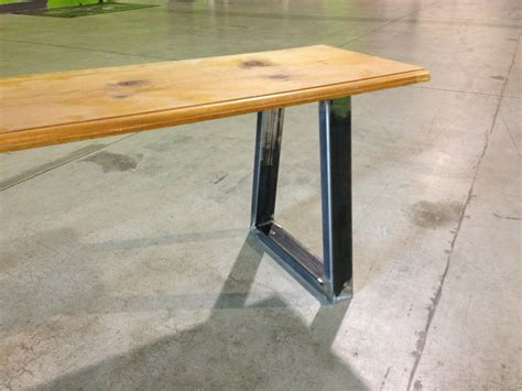 steel bench supports modern legs