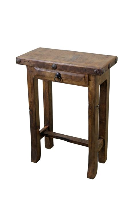 Rustic Bedroom End Tables Mesquite Wood Simple Side Table Home Decor Furniture
