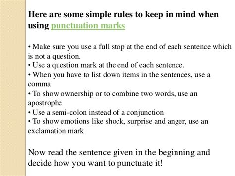 Are You In The List by Fundamentals Of Punctuation Marks
