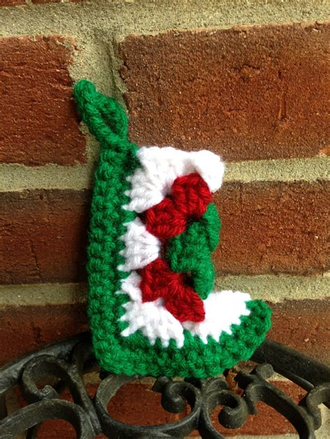 pattern for granny square christmas stocking mini granny square christmas stocking things i crocheted