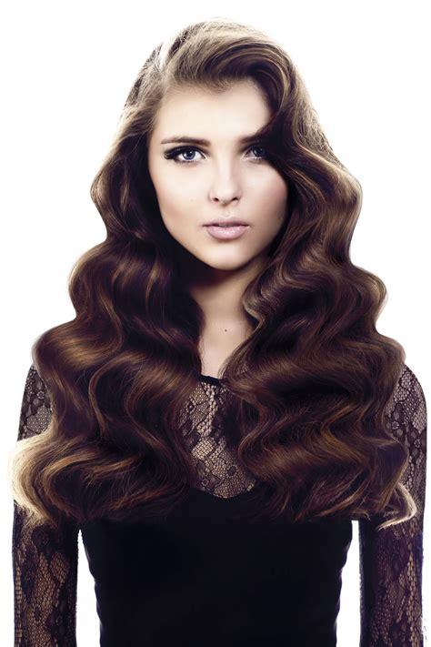 hairstyles for long hair glamour scuplted waves for screen siren glamour saks blog