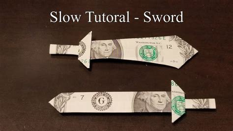 Dollar Bill Origami Sword - dollar bill origami sword 28 images gorgeous dollar