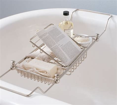 extra wide bathtub caddy mercer bathtub caddy pottery barn