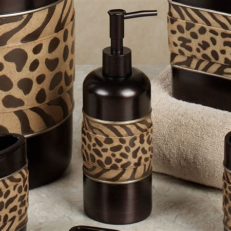 leopard print bathroom accessories cheshire animal print bath accessories