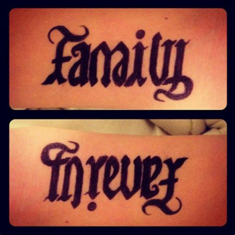 two words in one tattoo family forever tattoos tattoos and