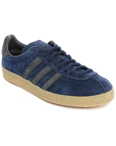 Adidas Slip On Suede Blue adidas originals topanga navy suede sneakers in blue for
