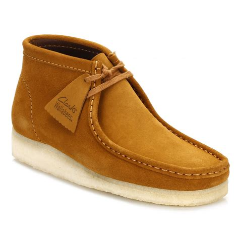 clarks mens suede boots clarks mens bronze wallabee suede boots 26118562 tower