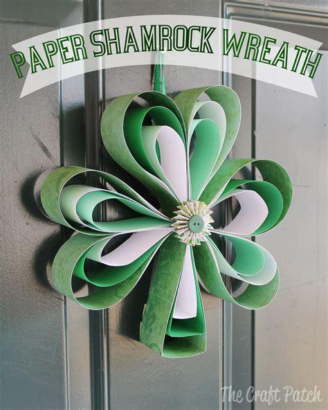 craft patch paper shamrock wreath