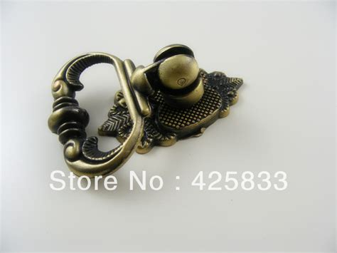 fashion 10pcs single bronze antique drawer pulls for
