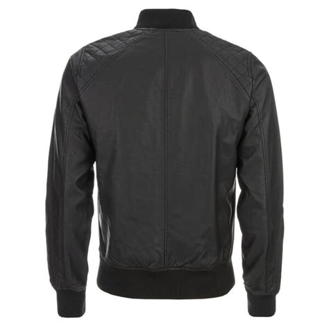 Pu Bomber Jacket threadbare s bandit pu bomber jacket black clothing