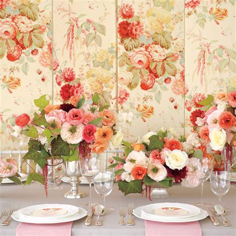 floral fabric inspired wedding ideas martha stewart weddings