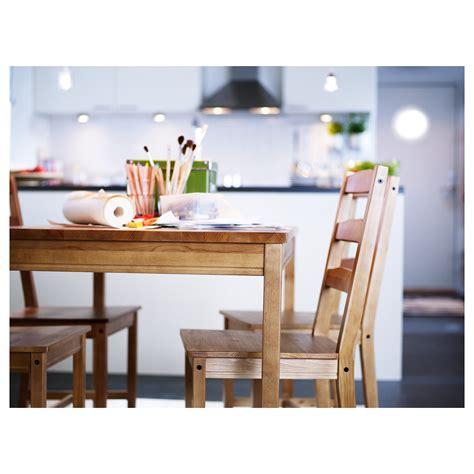 ikea tafel jokkmokk jokkmokk tafel en 4 stoelen antiekbeits ikea