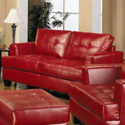 room furniture leather classic pcs:  samuel red leather  pcs living room set sofa loveseat and