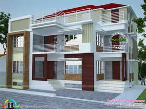 5000 Sq Ft House Plans Multi Family 4 Plex Home Plan Kerala Home Design And