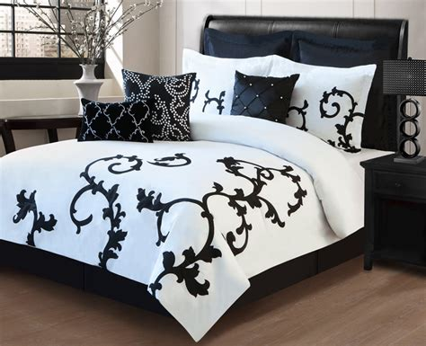 black and white bed in a bag 13 piece duchess black and white bed in a bag set